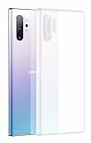 Benks Lollipop Samsung Galaxy Note 10 Plus Ultra İnce Şeffaf Beyaz Rubber Kılıf