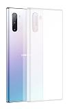 Benks Lollipop Samsung Galaxy Note 10 Ultra İnce Şeffaf Beyaz Rubber Kılıf