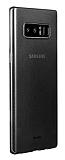 Benks Lollipop Samsung Galaxy Note 8 Ultra İnce Şeffaf Siyah Rubber Kılıf