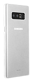 Benks Lollipop Samsung Galaxy Note 8 Ultra İnce Şeffaf Beyaz Rubber Kılıf