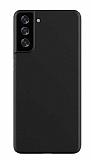 Benks Lollipop Samsung Galaxy S21 Siyah İnce Rubber Kılıf