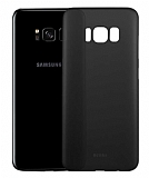Benks Lollipop Samsung Galaxy S8 Plus Ultra İnce Şeffaf Siyah Rubber Kılıf