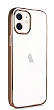 Benks Magic Glitz iPhone 12 / iPhone 12 Pro 6.1 inç Rose Gold Silikon Kılıf