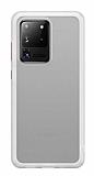 Benks Samsung Galaxy S20 Ultra Smooth Drop Beyaz Silikon Kılıf