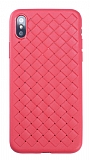 Benks WeaveIt iPhone X / XS Kırmızı Silikon Kılıf