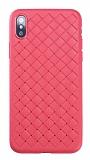 Benks WeaveIt iPhone XS Max Kırmızı Silikon Kılıf