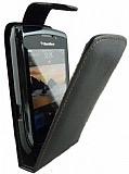 BlackBerry 9800 Torch Kapakl� Siyah Deri K�l�f