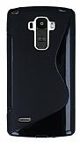 LG G4 Stylus Desenli Siyah Silikon Kılıf