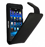 Doormoon BlackBerry Z10 Siyah Kapakl� Deri K�l�f