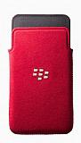 BlackBerry Z10 Orjinal Mikrofiber Pocket K�rm�z� K�l�f