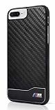 BMW iPhone 7 Plus Karbon Siyah Rubber Kılıf