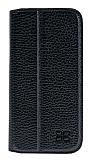 Bouletta Book Klug iPhone 7 Standlı Kapaklı Floater Black Gerçek Deri Kılıf