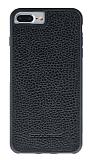 Bouletta Flex Cover iPhone 7 Plus Floater Black Gerçek Deri Kılıf