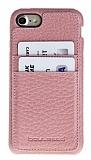 Bouletta Full Cover CC iPhone 7 Kartlıklı Floater Açık Pembe Gerçek Deri Kılıf