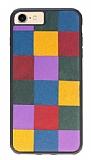 Bouletta iPhone 7 / 8 Saffino Rainbow Gerçek Deri Kılıf