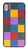 Bouletta iPhone X / XS Saffino Rainbow Gerçek Deri Kılıf