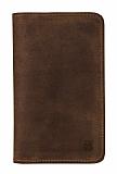 Burkley Leony Universal Kapaklı Cüzdanlı Kahverengi Kılıf