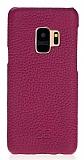 Bouletta Ultimate Jacket Samsung Galaxy S9 FLM9 Mor Gerçek Deri Kılıf