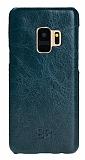 Bouletta Ultimate Jacket Samsung Galaxy S9 VS6 Mavi Gerçek Deri Kılıf