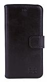 Bouletta Wallet ID iPhone 6 / 6S Standlı Kapaklı Siyah Gerçek Deri Kılıf