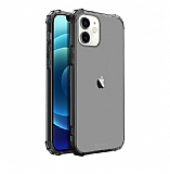 Buff Blogy iPhone 12 Mini 5.4 inç Crystal Fit Smoke Black Kılıf