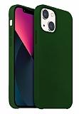 Buff Rubber Fit iPhone 13 Mini Dark Green Silikon Kılıf