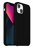 Buff Rubber Fit iPhone 13 Mini Siyah Silikon Kılıf