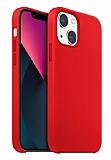 Buff Rubber Fit iPhone 13 Mini Kırmızı Silikon Kılıf