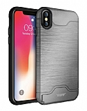 Buff Slim Folder iPhone XS Max Silver Kılıf