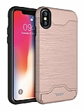 Buff Slim Folder iPhone XS Max Rose Gold Kılıf