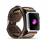 Burkley Apple Watch CUFF G2 Kahverengi Gerçek Deri Kordon (38 mm)
