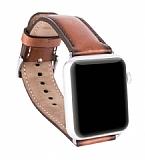 Burkley Apple Watch RST2EF Kahverengi Gerçek Deri Kordon (42 mm)