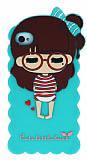Candy House iPhone 4 /4S Sleepy Girl Su Ye�ili Silikon K�l�f