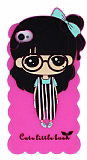 Candy House iPhone 4 /4S Cute Girl Pembe Silikon K�l�f