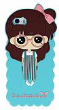 Candy House iPhone 5 /5S Cute Girl Su Ye�ili Silikon K�l�f