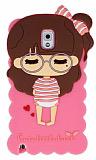 Candy House Samsung N9000 Galaxy Note 3 Sleepy Girl Pembe Silikon K�l�f
