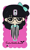 Candy House Samsung N9000 Galaxy Note 3 Cute Girl Pembe Silikon K�l�f