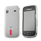 Capdase Samsung S5660 Galaxy Gio Beyaz Silikon K�l�f