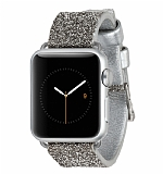 Case-Mate Apple Watch Taşlı Silver Kordon (38 mm)