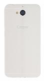 Casper Via A1 Deri Desenli Ultra İnce Şeffaf Beyaz Silikon Kılıf
