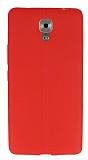 Casper Via A1 Plus Deri Desenli Ultra İnce Kırmızı Silikon Kılıf