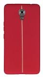 Casper Via A1 Plus Kadife Dokulu Kırmızı Silikon Kılıf