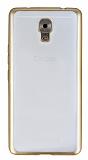 Casper Via A1 Plus Gold Kenarlı Şeffaf Silikon Kılıf