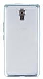 Casper Via A1 Plus Silver Kenarlı Şeffaf Silikon Kılıf