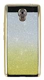 Casper Via A1 Plus Simli Parlak Gold Silikon Kılıf