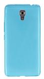 Casper Via A1 Plus Ultra İnce Şeffaf Mavi Silikon Kılıf
