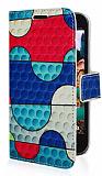 Casper Via A3316 Dalga Desenli Cüzdanlı Yan Kapaklı Kılıf