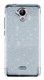 Casper Via E1 Simli Silver Silikon Kılıf