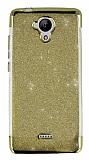 Casper Via E1 Simli Gold Silikon Kılıf