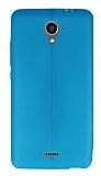 Casper Via E2 Deri Desenli Ultra İnce Mavi Silikon Kılıf